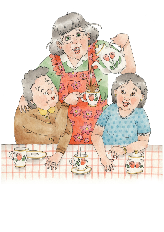 Illustration till manus skrivet av Linda Wiktorsson-Lång, 2013